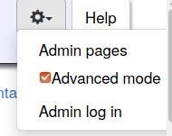 activate advanced mode